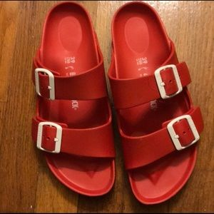 Red Rubber Birkenstocks
